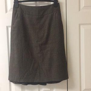 Banana Republic wool tweed pencil skirt
